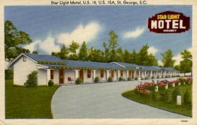 Star Light Motel - St. George, South Carolina SC Postcard
