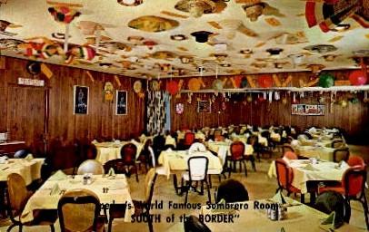 Pedro's World Famous Sombrero Room - South of the Border, South Carolina SC Postcard