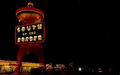 Pedro Sign - South of the Border, South Carolina SC Postcard