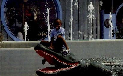 25 Foot Gator - South of the Border, South Carolina SC Postcard