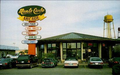 Monte Carlo Game Room - South of the Border, South Carolina SC Postcard