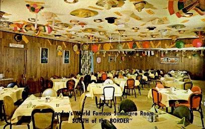 Pedro's Sombrero Room - South of the Border, South Carolina SC Postcard