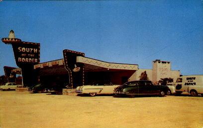 Hamer Drive-In Restaurant - South of the Border, South Carolina SC Postcard