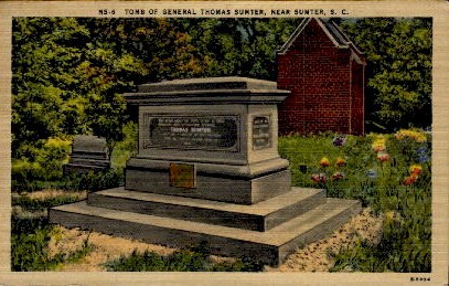 Tomb of General Thomas Sumter - South Carolina SC Postcard