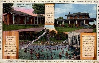 Pocalla Springs Tourist Court - Sumter, South Carolina SC Postcard