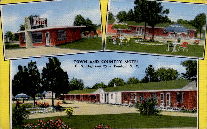 Town and Country Motel and Caf» - Trenton, South Carolina SC Postcard