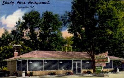 Shady Rest Restaurant - Trenton, South Carolina SC Postcard