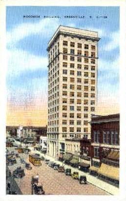 Woodside Building - Greenville, South Carolina SC Postcard