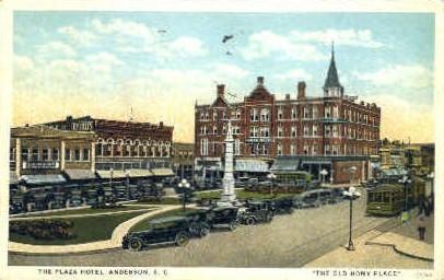 Plaza Hotel - Anderson, South Carolina SC Postcard