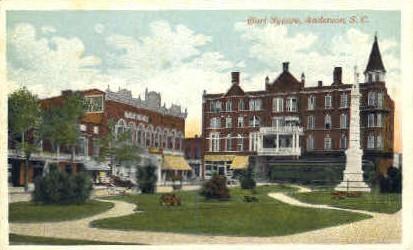 Court Square - Anderson, South Carolina SC Postcard