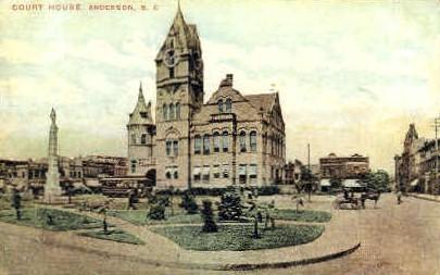 Court House - Anderson, South Carolina SC Postcard