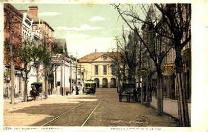 Broad Street - Charleston, South Carolina SC Postcard