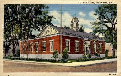 U.S. Post Office - Walterboro, South Carolina SC Postcard