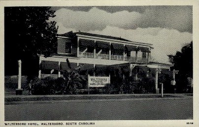 Walterboro Hotel - South Carolina SC Postcard