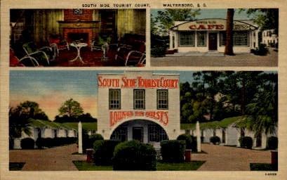 South Side tourist Court - Walterboro, South Carolina SC Postcard