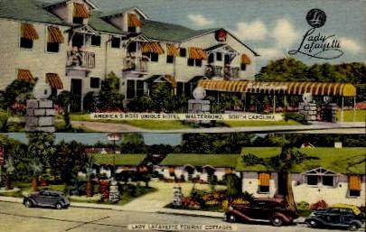 Lafayette Tourist Cottages - Walterboro, South Carolina SC Postcard