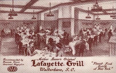 Lafeyette Grill - Walterboro, South Carolina SC Postcard