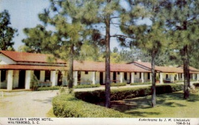 Travelers Motel - Walterboro, South Carolina SC Postcard
