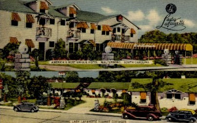 Lady Lafeyette Tourist Cottages - Walterboro, South Carolina SC Postcard
