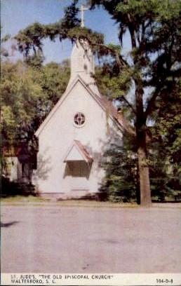 St. Judes Old Episcopal Church - Walterboro, South Carolina SC Postcard
