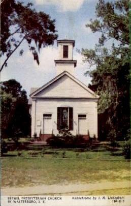 Bethel Prebyterian Church - Walterboro, South Carolina SC Postcard