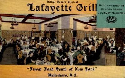 Lafayette Grill - Walterboro, South Carolina SC Postcard