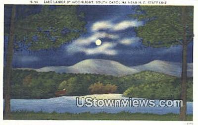Lake Lanier, South Carolina, SC Postcard
