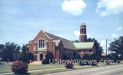 Callie Self Memorial Church & Carillon - Greenwood, South Carolina SC Postcard