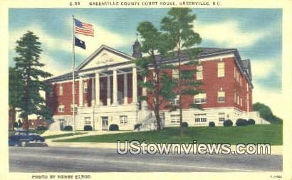 Greenville County Court House - South Carolina SC Postcard