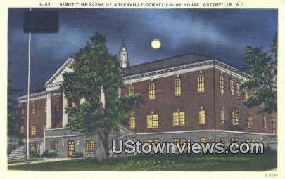 Greeenville County Court House - Greenville, South Carolina SC Postcard