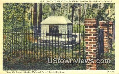 Tomb of Francis anion - Francis Marion National Forest, South Carolina SC Postcard