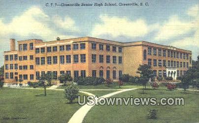 Greenville Senior High School - South Carolina SC Postcard