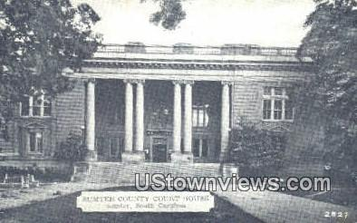 Sumteer County Court House - Sumter, South Carolina SC Postcard