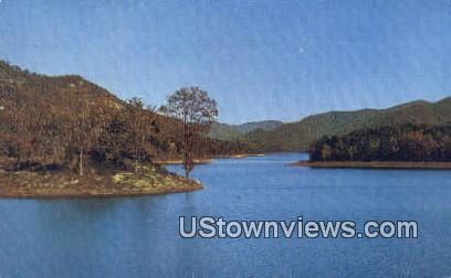 North Saluda Lake - Blue Ridge Mtns, South Carolina SC Postcard