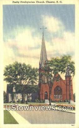 Purity Presbyterian Church - Chester, South Carolina SC Postcard