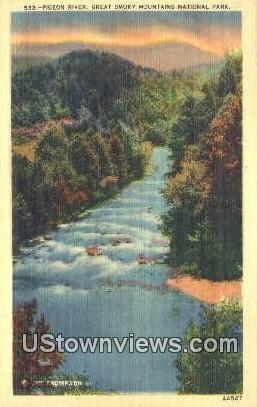 Pigeon River - Great Smoky Mountains National Park, South Carolina SC Postcard