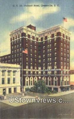 Poinsett Hotel - Greenville, South Carolina SC Postcard