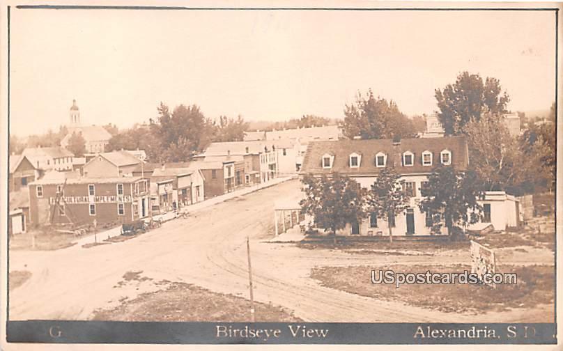 Birds Eye View - Alexandria, South Dakota SD Postcard
