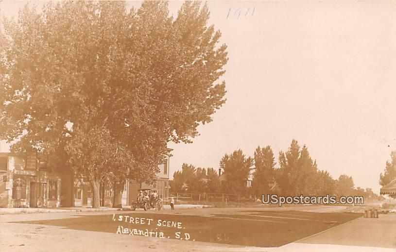 Street Scene - Alexandria, South Dakota SD Postcard