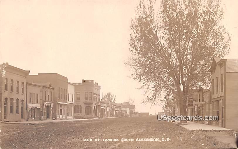 Main Street - Alexandria, South Dakota SD Postcard
