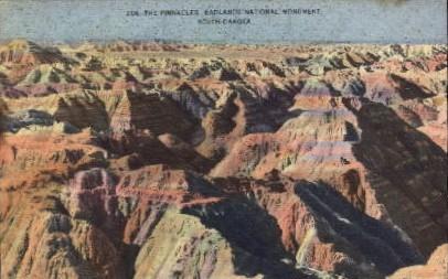 The Pinnacles, Badland National Monument - Badlands National Monument, South Dakota SD Postcard