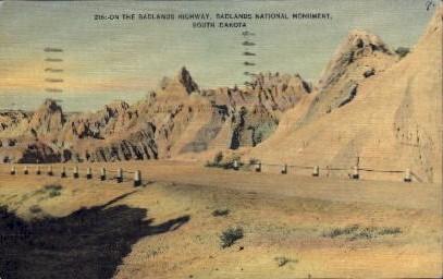 Badlands National Monument - South Dakota SD Postcard