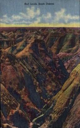 Bad Lands - South Dakota SD Postcard