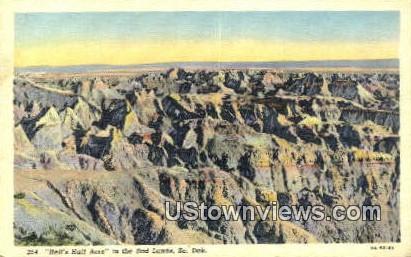 Hells Half Acre - Badlands, South Dakota SD Postcard