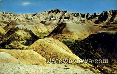 Big Badlands - South Dakota SD Postcard