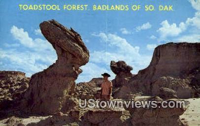 Toadstool Forest - Badlands, South Dakota SD Postcard