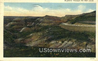 Highway - Badlands, South Dakota SD Postcard