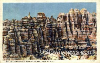 Sheep Mountain - Badlands, South Dakota SD Postcard
