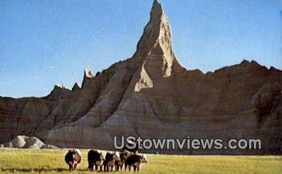 Ed Huether Ranch - Badlands, South Dakota SD Postcard
