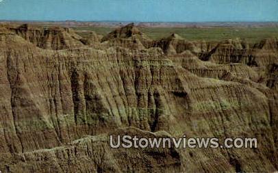 Huge Rock Formation - Badlands National Monument, South Dakota SD Postcard